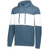Holloway Men's Ivy League Hoodie Storm Heather/White