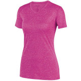 Augusta Women's Kinergy Heathered Jersey Power Pink