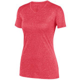 Augusta Women's Kinergy Heathered Jersey Red