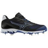 Mizuno Men's 9-Spike Dominant 2 Low Metal Cleat Black/Royal
