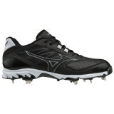 Mizuno Men's 9-Spike Dominant 2 Low Metal Cleat Black/White