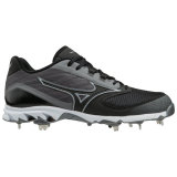 Mizuno Men's 9-Spike Dominant 2 Low Metal Cleat Charcoal/Black