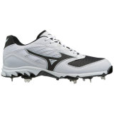 Mizuno Men's 9-Spike Dominant 2 Low Metal Cleat White/Black