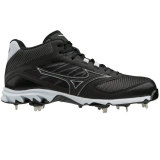 Mizuno Men's Dominant 2 Metal MID Cleat Black/White