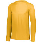 Men's Attain Wicking Long Sleeve Shirt Gold