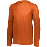Men's Attain Wicking Long Sleeve Shirt Orange