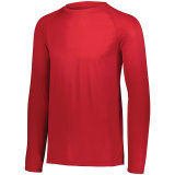 Men's Attain Wicking Long Sleeve Shirt Red