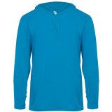 Badger Men's Long Sleeve Hood Tee Electric Blue