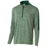 Holloway Men's Electrify 1/2 Zip Pullover Forest Heather/Forest