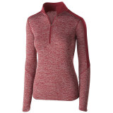 Holloway Women's Electrify 1/2 Zip Pullover Cardinal Heather/Cardinal