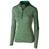 Holloway Women's Electrify 1/2 Zip Pullover Forest Heather/Forest