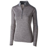 Holloway Women's Electrify 1/2 Zip Pullover Graphite Heather/Graphite