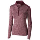 Holloway Women's Electrify 1/2 Zip Pullover Maroon Heather/Maroon