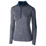 Holloway Women's Electrify 1/2 Zip Pullover Navy Heather/Navy