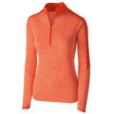 Holloway Women's Electrify 1/2 Zip Pullover Orange Heather/Orange