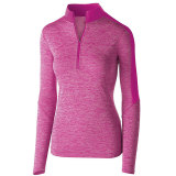 Holloway Women's Electrify 1/2 Zip Pullover Power Pink Heather/Power Pink