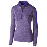 Holloway Women's Electrify 1/2 Zip Pullover Purple Heather/Purple
