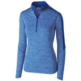 Holloway Women's Electrify 1/2 Zip Pullover Royal Heather/Royal