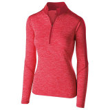 Holloway Women's Electrify 1/2 Zip Pullover Scarlet Heather/Scarlet