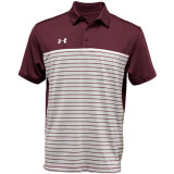 Under Armour Men's Stripe Mix-Up Polo Maroon