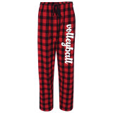 Plaid Flannel Volleyball Pants Red/Black