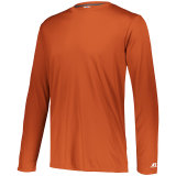 Russell Men's Dri-Power Core Performance Long Sleeve Tee Burnt Orange