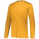 Russell Men's Dri-Power Core Performance Long Sleeve Tee Gold