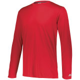 Russell Men's Dri-Power Core Performance Long Sleeve Tee True Red