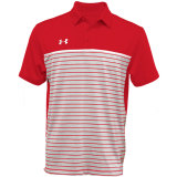 Under Armour Men's Stripe Mix-Up Polo Red