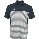 Under Armour Men's Stripe Mix-Up Polo Stealth Gray