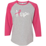 Volleyball Hope Baseball Tee Gray/Hot Pink