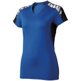 High Five Women's Atomic Short Sleeve Jersey Royal/Black
