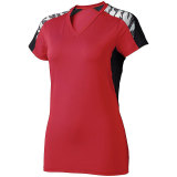 High Five Women's Atomic Short Sleeve Jersey Scarlet/Black