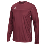 Adidas Men's Climacool Utility Long Sleeve Jersey Burgundy