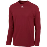 Adidas Men's Climalite Long Sleeve Jersey Burgundy