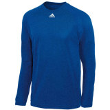 Adidas Men's Climalite Long Sleeve Jersey Heather Royal