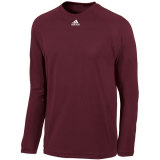 Adidas Men's Climalite Long Sleeve Jersey Maroon