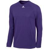 Adidas Men's Climalite Long Sleeve Jersey Purple