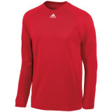 Adidas Men's Climalite Long Sleeve Jersey Red