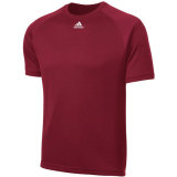 Adidas Men's Climalite Short Sleeve Jersey Burgundy