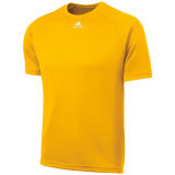 Adidas Men's Climalite Short Sleeve Jersey Gold