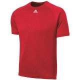 Adidas Men's Climalite Short Sleeve Jersey Heather Red