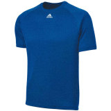 Adidas Men's Climalite Short Sleeve Jersey Heather Royal