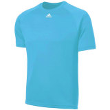Adidas Men's Climalite Short Sleeve Jersey Light Blue