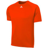 Adidas Men's Climalite Short Sleeve Jersey Orange
