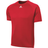 Adidas Men's Climalite Short Sleeve Jersey Red