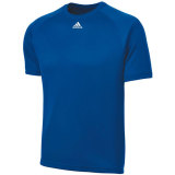 Adidas Men's Climalite Short Sleeve Jersey Royal