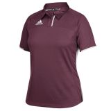 Adidas Women's Climacool Utility Polo Maroon