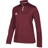 Adidas Women's Iconic 1/4 Zip Burgundy