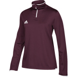 Adidas Women's Iconic 1/4 Zip Maroon